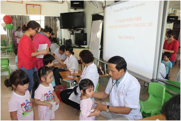Khám sức khỏe đầu năm học 2014 - 2015 Cơ sở Lý Nam Đế